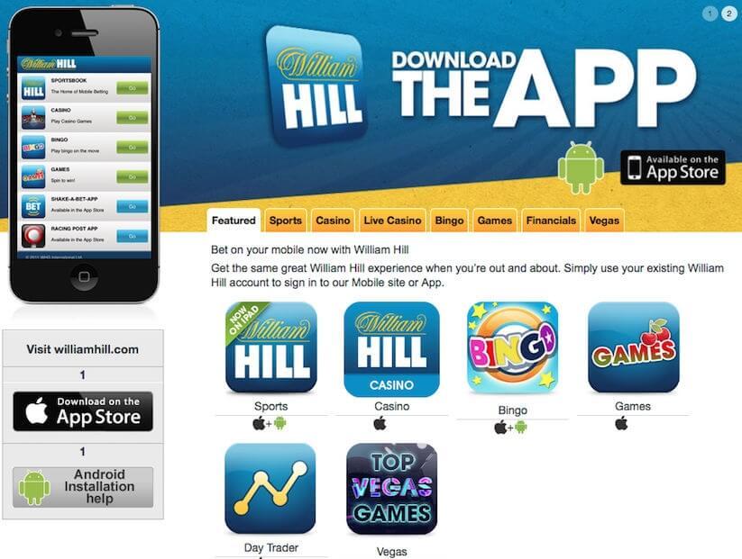 официальный сайт william hill скачать приложение