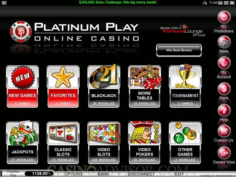 platinum play казино бонус