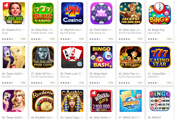 google play pokies