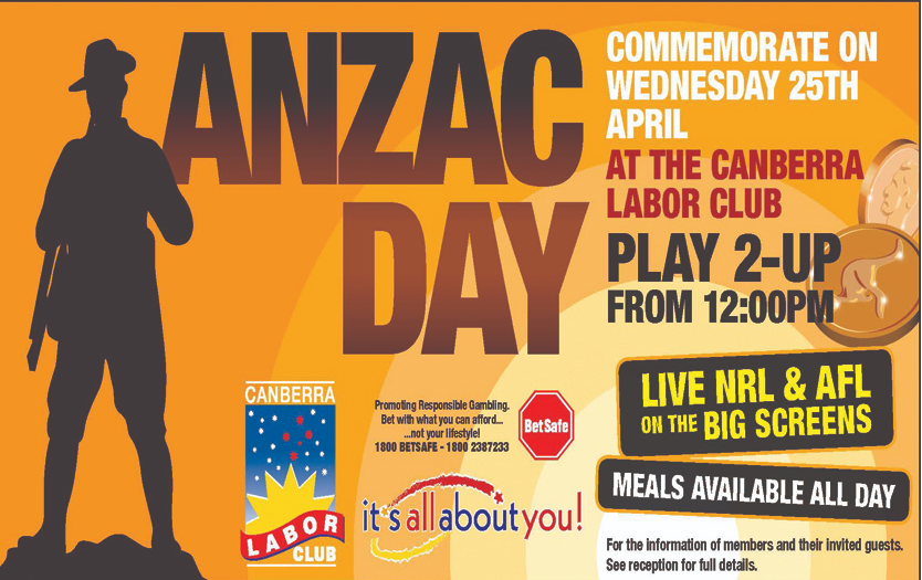 Where to play Anzac Day Two Up game