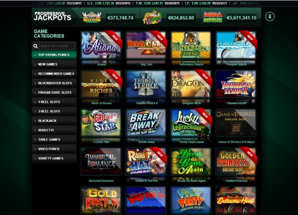 Casino Mate range of games