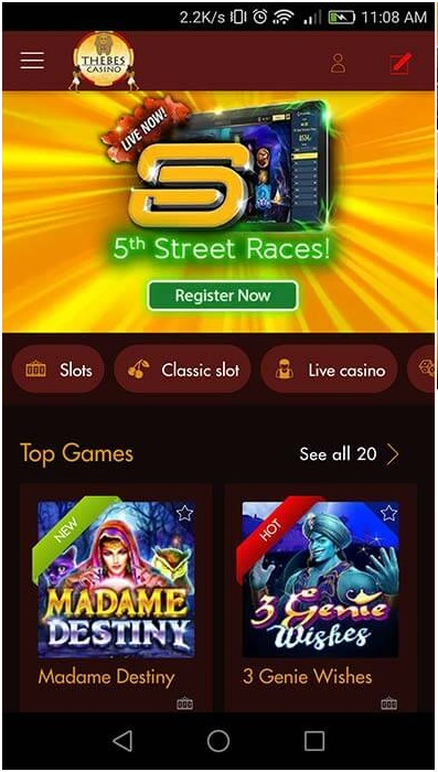 What are 5th street races at online casinos and how to play them?