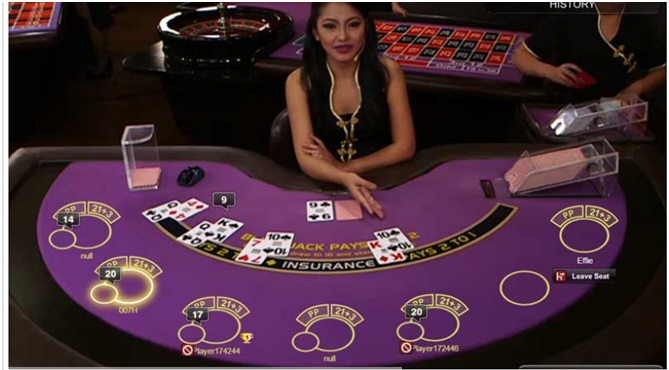 Amber Blackjack at casino - Bet Behind Feature