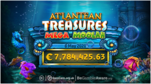 How to play the Atlantean Treasures: Mega Moolah pokies?