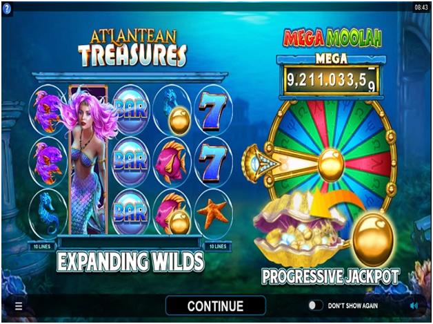 How to play and win the Atlantean Treasures: Mega Moolah pokies?