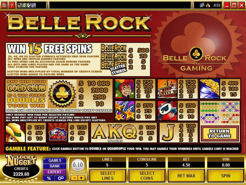 Belle Rock Pokies