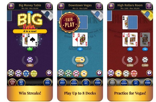 Blackjack casino card game