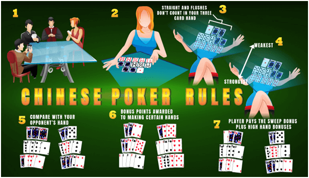 Chinese poker game difference