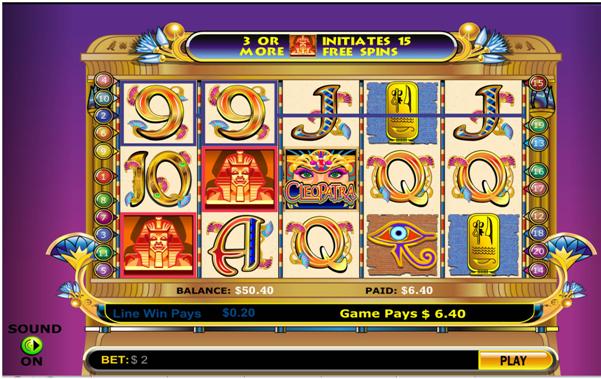 Cleopatra slots game