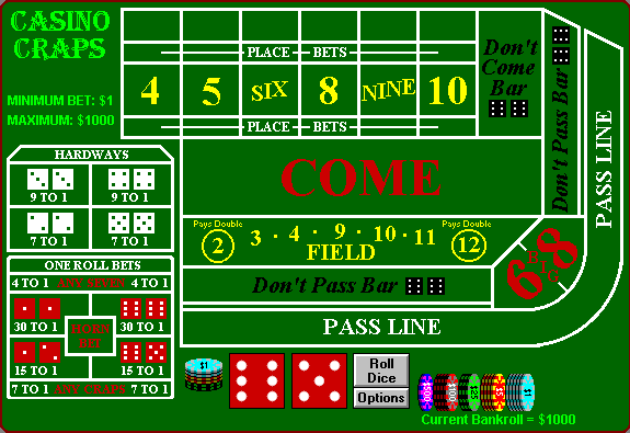 How to win the game of dice - Craps