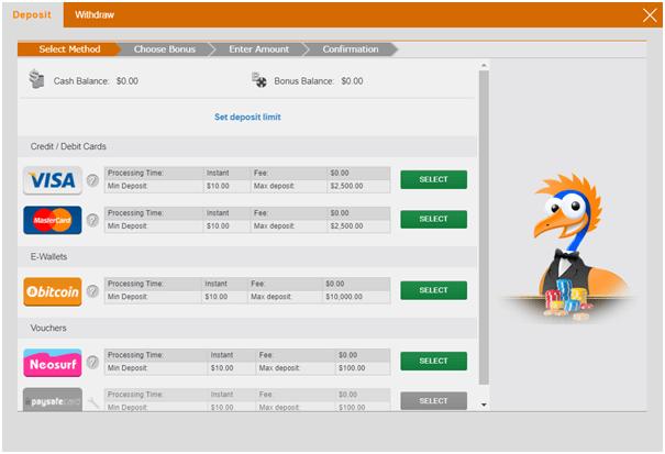 Emu Casino Banking