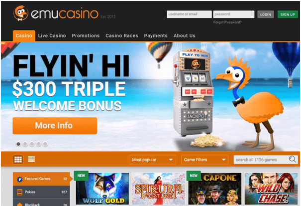 Emu Casino online for Australian players