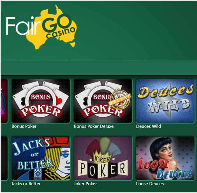 Fair Go Video poker games