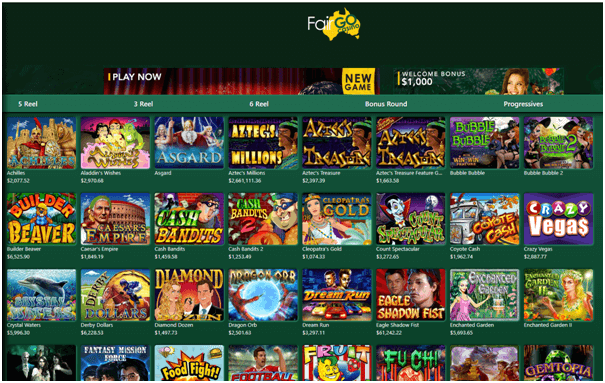 Fair Go - online casino AU- Games