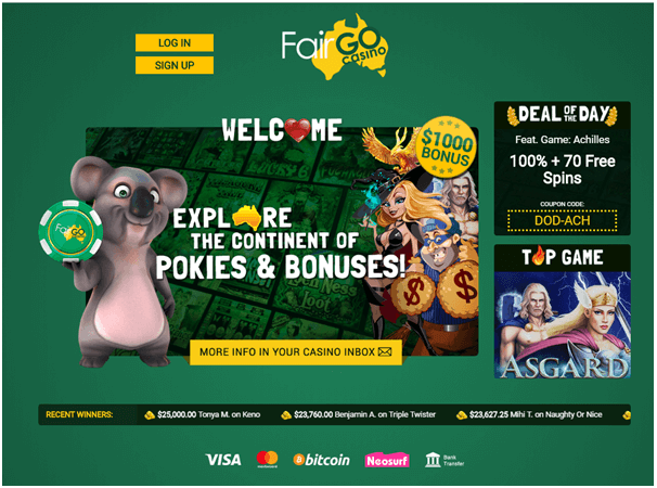 Fair go Australian casino