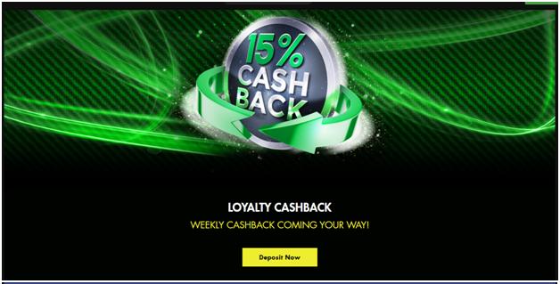 Cashback program at online casinos