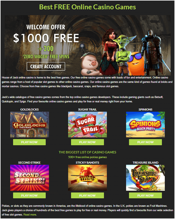 House of Jack - Online casino- Games