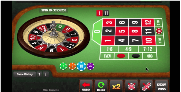 How to play Mini Roulette