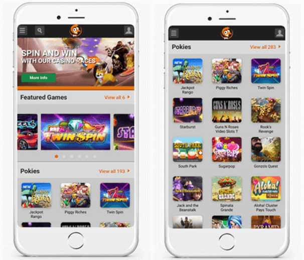 AUD Mobile casino apps