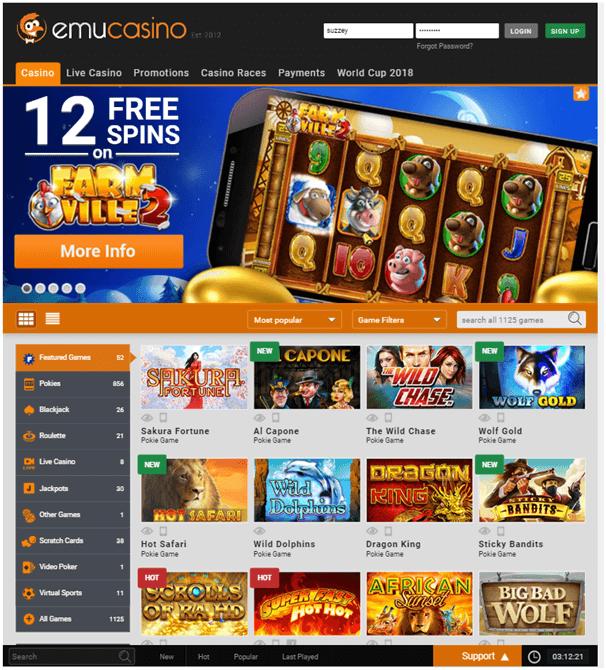 Emu mobile casino
