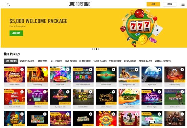 JJoe Fortune Casino Online