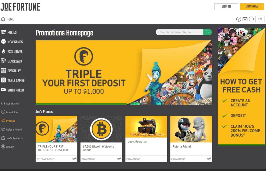 Joe fortune online casino