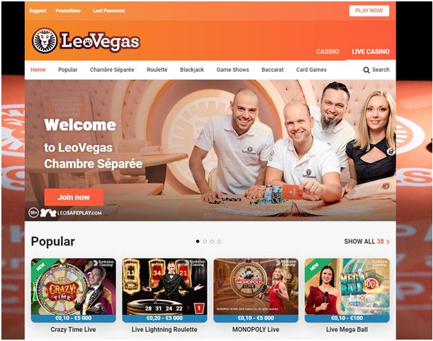 Leo Vegas online Casino
