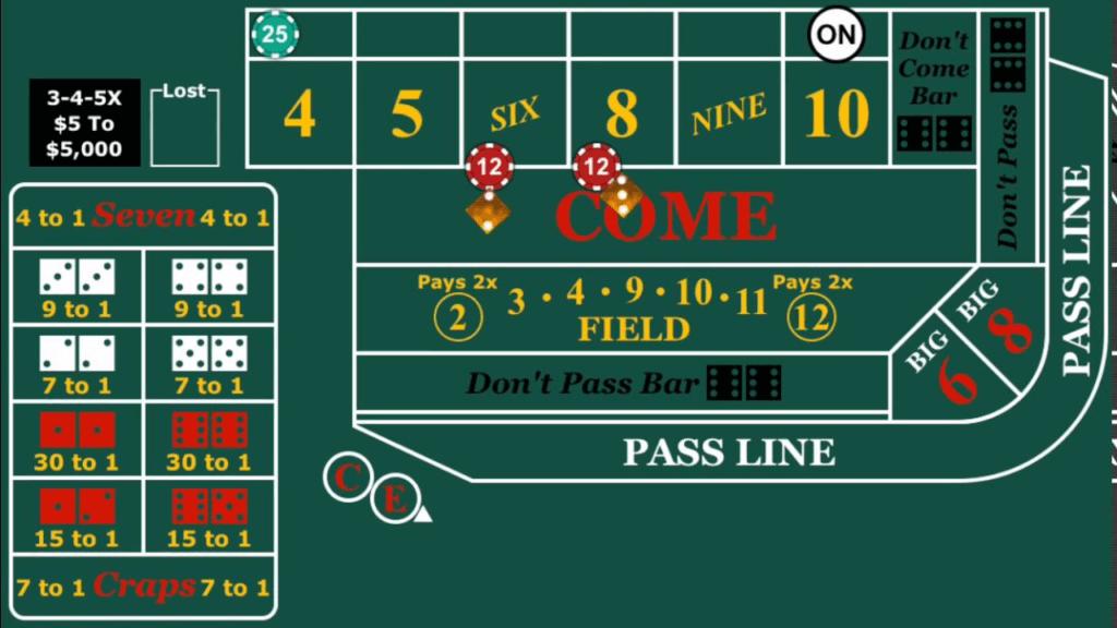 Craps betting tips