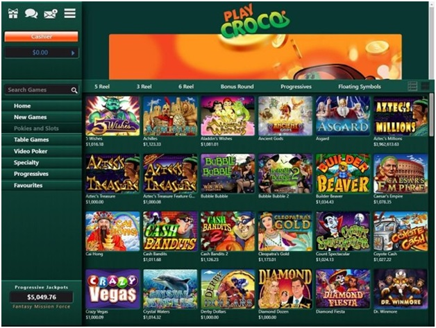 Play Croco Casino games to play