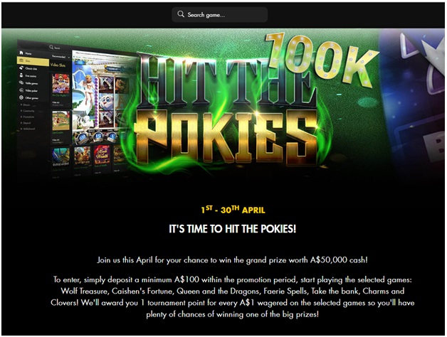 Pokies tournament at Rich casino