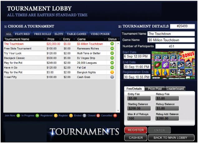 Pokies tournament points to remember
