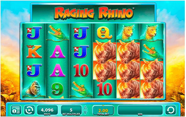 What are the five pokies of land casinos now to play online- Raging Rhino