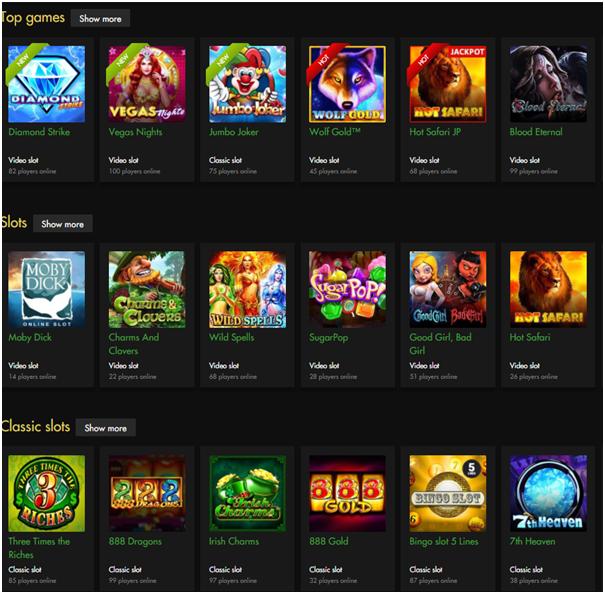 Rich Casino- games to enjoy