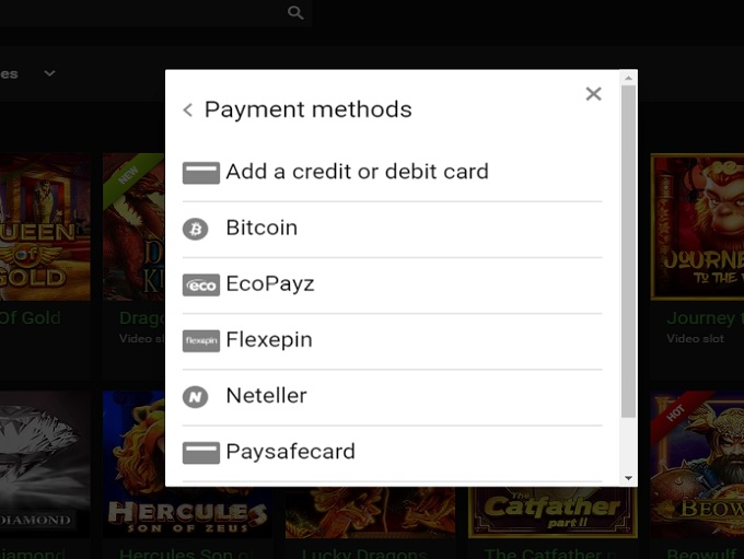 Rich casino payments