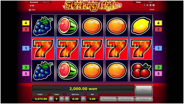 What are the five pokies of land casinos now to play online - Sizzling hot