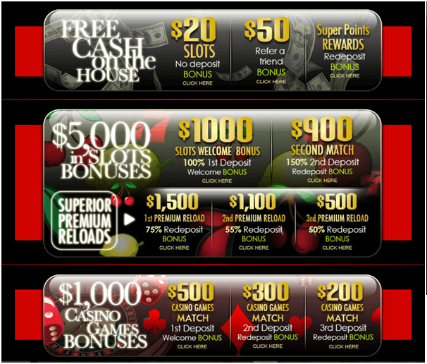 Superior Casino Australia- Bonus to play pokies