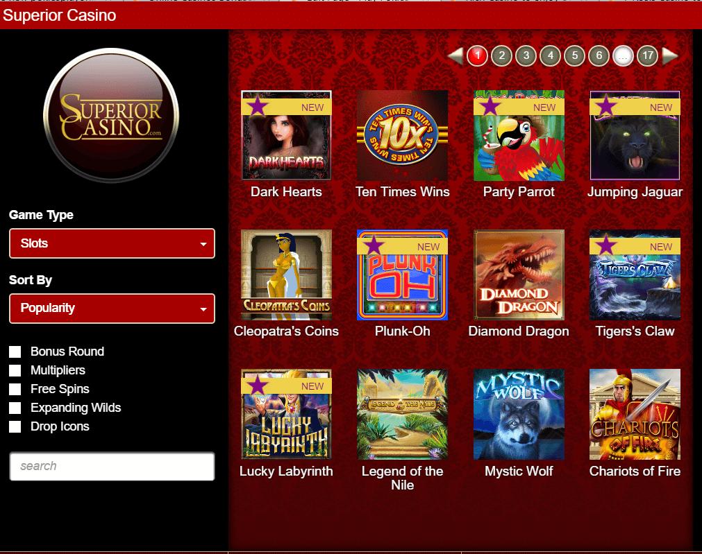 Superior casino free pokies