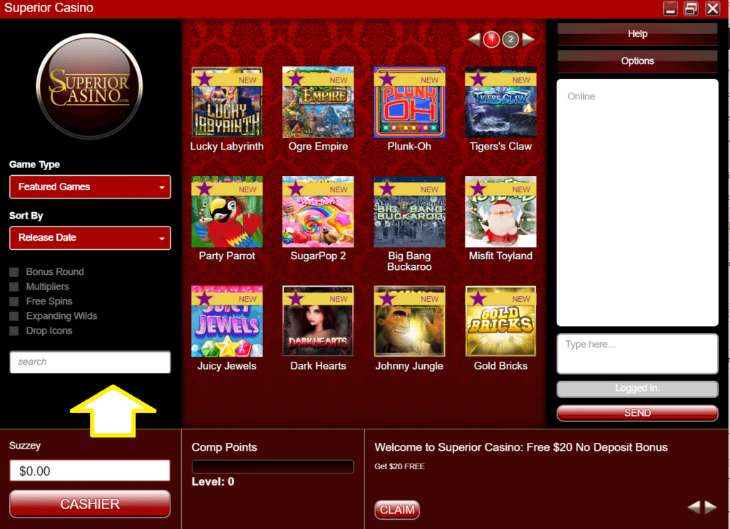 Superior casino pokies games to play