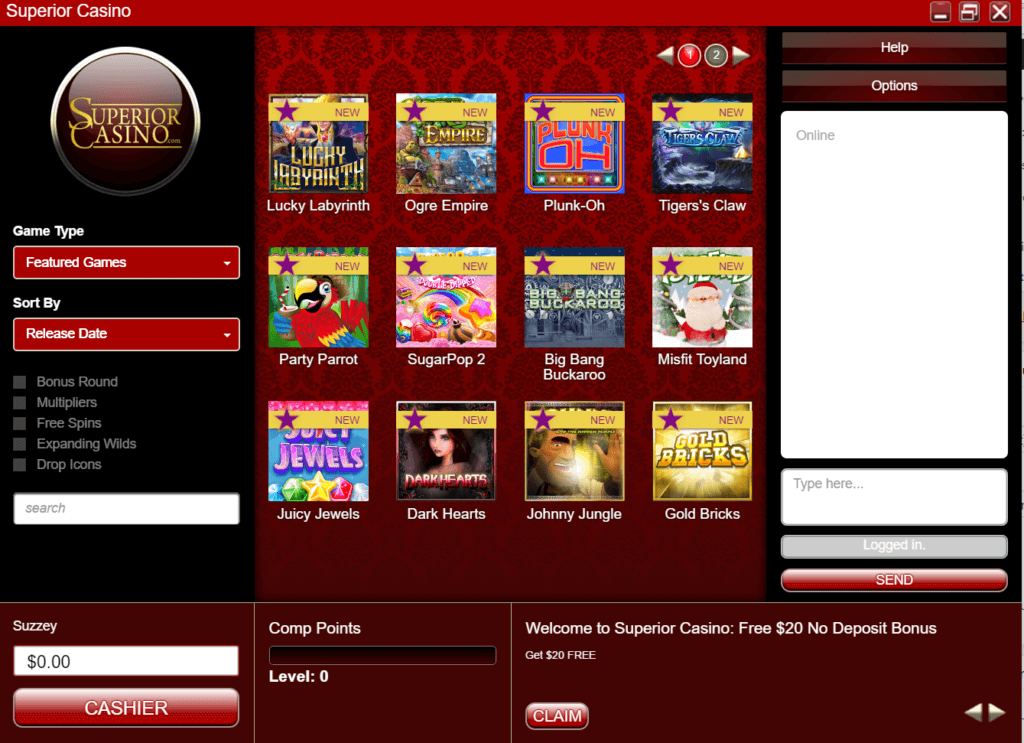 Superior casino games to play