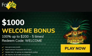 fair go casino australia coupon code welcome