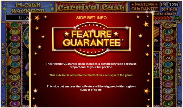 What is Feature Guarantee in pokies and where to find such pokies?