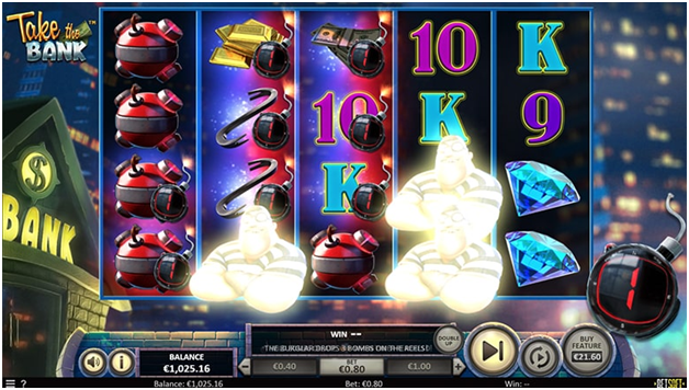 take the bank pokies features