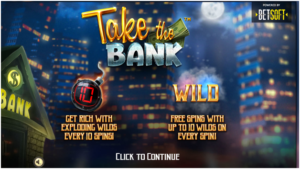 What is the new type of wild symbol in Take the Bank pokies?